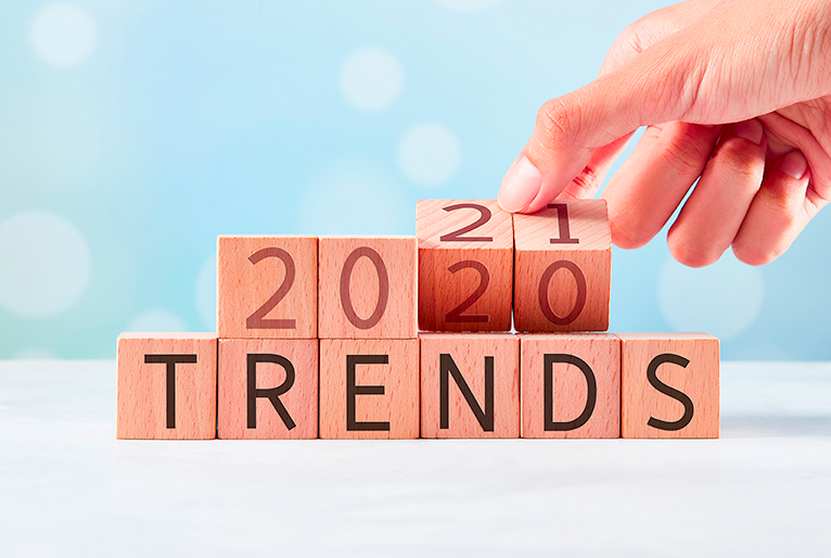Blocks that say 2021 trends