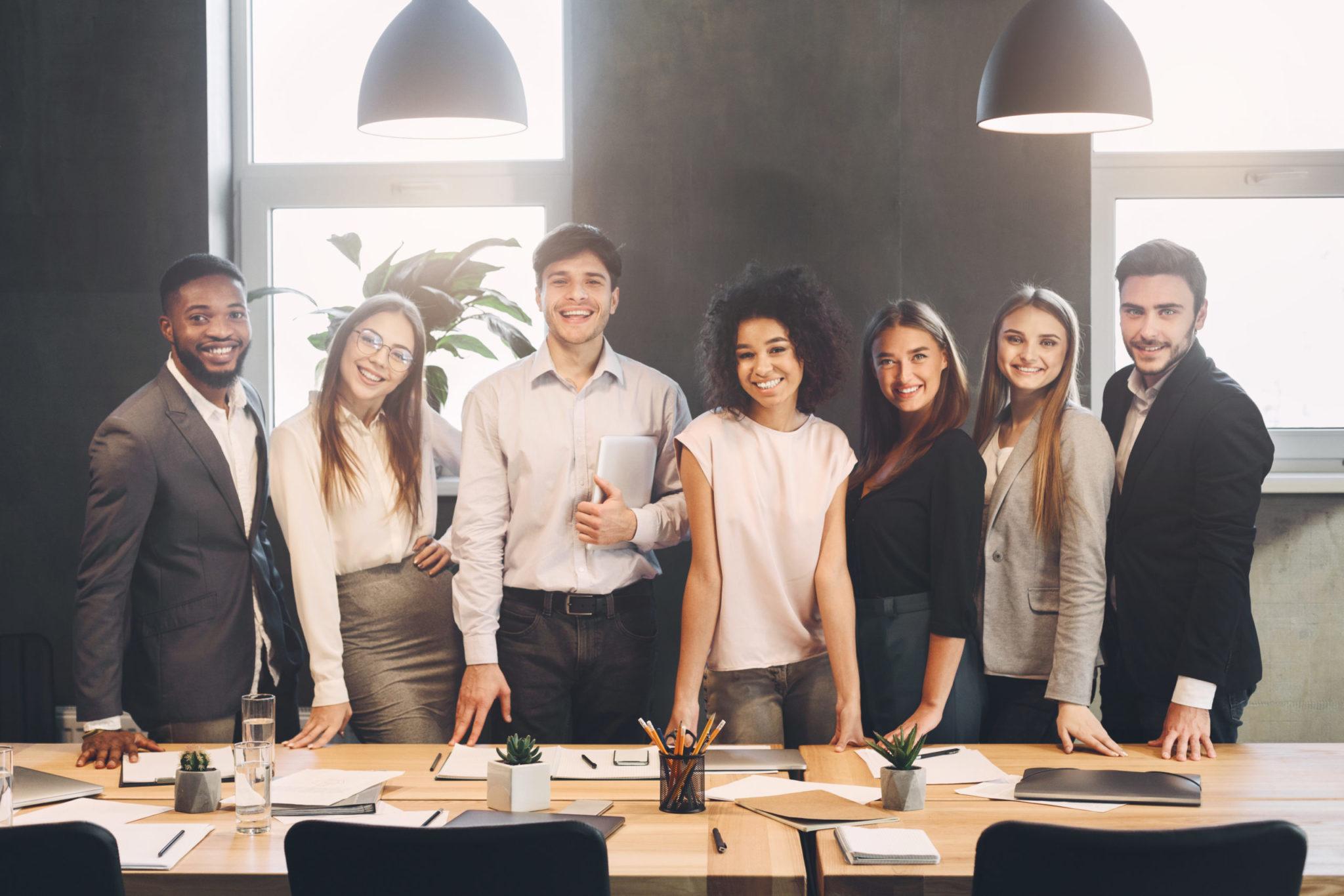 Smiling confident entrepreneurs